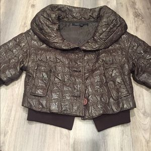 MARC JACOBS short brown coat jacket
